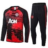 LQRYJDZ Langarm Trainingsanzüge Home Team Uniformen, Manchester United Soccer Trainingsanzug Langarmanzug Anzug Anzug Team Wettbewerb Trainingsanzug (Size : L)
