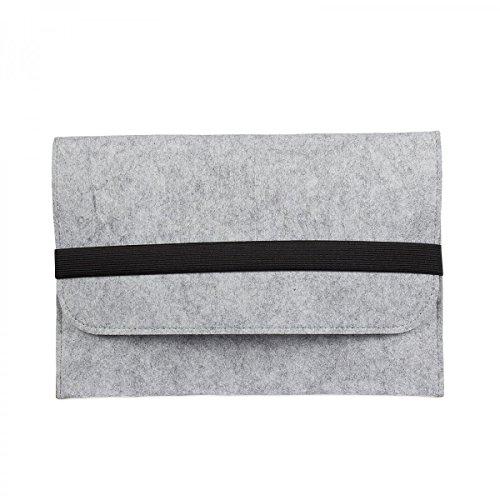 eFabrik Tasche für Odys Winpad 10 Schutztasche 2in1 (für Tablet Inklusive Tastatur) Schutz Hülle Filz Filztasche Hülle Sleeve hellgrau