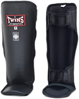 Twins Shin Guard Protector Special Slim Instep SGL-3 for Protection in Muay Thai, Boxing, Kickboxing, MMA