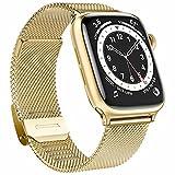 Fengyiyuda Ersatzarmband Kompatible mit Apple Watch Armband, Metall Edelstahl Armband mit Schnalle...