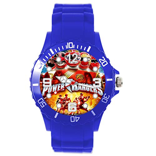 Reloj de silicona azul para los fans de Power Rangers