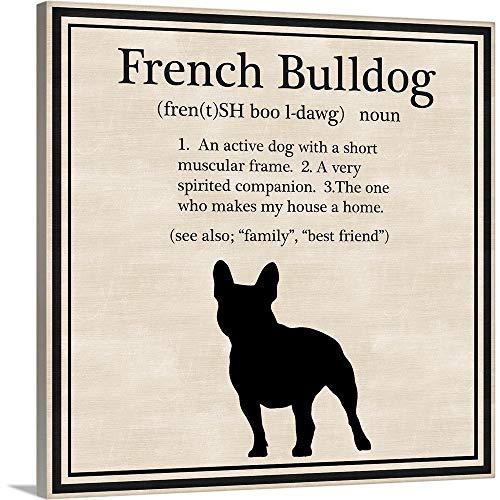 French Bulldog Canvas Wall Art Print, Dog Artwork