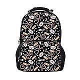 Nopersonality Durable Popular College Mochilas para Las Mujeres niñas Escuela Bolsa Bookbag Grande Viaje portátil Deportes Daypacks, Nurse Style Black (Negro) - Nopersonality