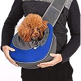 CUBY ペットバッグ ペットキャリーバッグ 斜めショルダーバッグ ペットスリング ペット 猫用 犬用 リュック 抱っこ紐 スリング 小型犬 脱走防止 (ブルー)