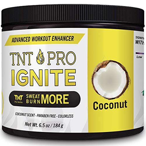 Sweat Cream & Slimming Cream with Coconut Oil for Weight Loss for Women & Men - Fat Burner Cream & Slim Cream, Workout Enhancer by TNT Pro Ignite for Stomach Weight Loss