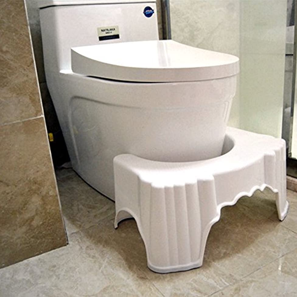 Green Earth Doctor Recommended & Endorsed Bathroom Toilet Step Stool for Natural Release and Comfort (White) (Style_2)