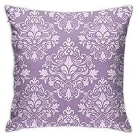座布団カバー 紫 背景 花 豪華 飾り クッションカバー45x45 両面 ふわふわ 車用 背当て カフェ 部屋 ホーム 飾り 抱き枕カバー プリンのホーム