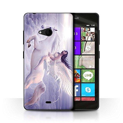 Stuff4 telefoonhoesje/hoes voor Microsoft Lumia 540 (zwart/wit) / ik kan vliegen ontwerp/fantasie engel collectie