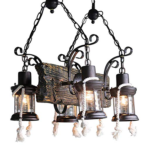 CSD American Country cáñamo de la lámpara creativa de la sala restaurante bar café retro loft de diseño de la lámpara