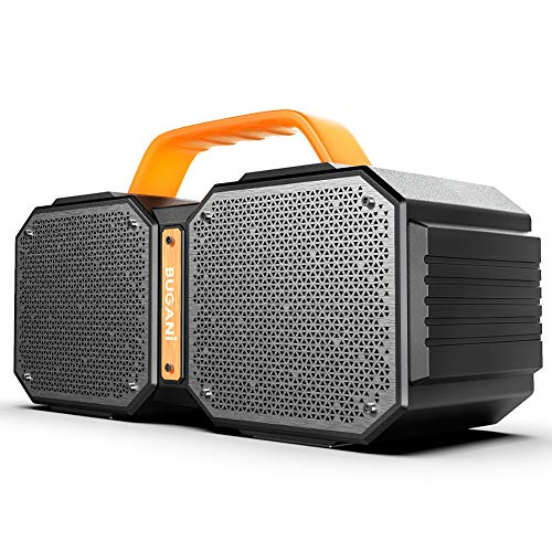 Bluetooth Speaker, BUGANI M83 Waterproof Outdoor Speaker Bluetooth 5.0, 2400 Minutes Playtime with Charge Your Phone, 40W Wireless Stereo Pairing Booming Bass Speaker, for Gym, Party