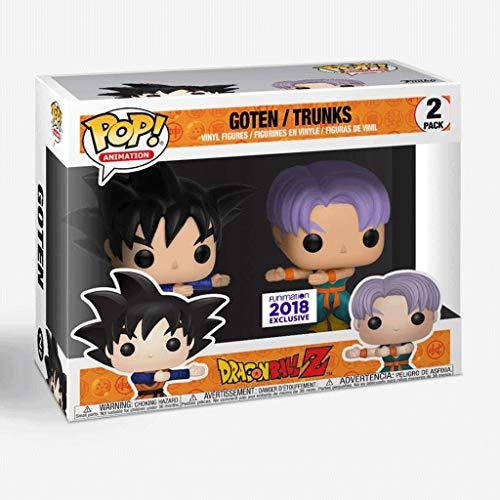 Jokoy Funko Pop Animation : Dragon Ball Z - Goten / Trunks 2-Pack 3.75inch Vinyl Gift for Anime Fans Chibi