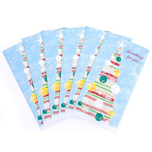 Hallmark Holiday Money or Gift Card Holders, Christmas Tree (6 Cards with Envelopes)