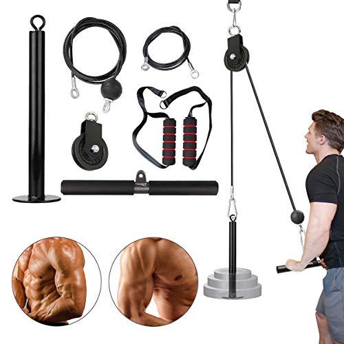Ajfashion Lot de 14 rouleaux de musculation pour avant-bras et poignets avec système de poulie robuste pour exercices de musculation des biceps et triceps