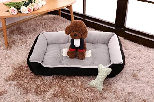 Cama para Perros Mediana, Cálida, Suave Y Cómoda, Sofá Cama para Mascotas para Perros Medianos, Sueño Mejorado, Fondo Antideslizante, Lavable A Máquina