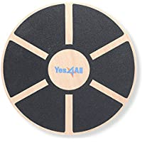 Yes4All Wooden Balance Board Wobble Exercise Balance Trainer