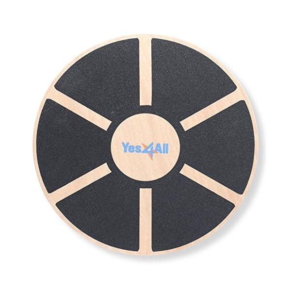Yes4All Wooden Wobble Balance Board – Round Balance Board/ Stability Board...