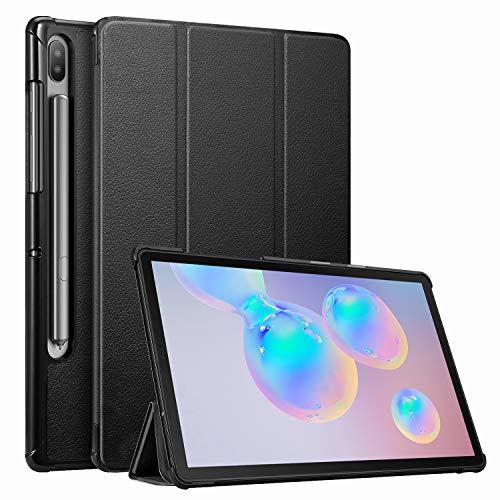 Fintie Hülle für Samsung Galaxy Tab S6 10.5 SM-T860/T865 2019 (Kompatibel mit S Pen kabelloser Ladefunktion) - Ultra Schlank Kunstleder Schutzhülle mit Auto Schlaf/Wach Funktion, Schwarz
