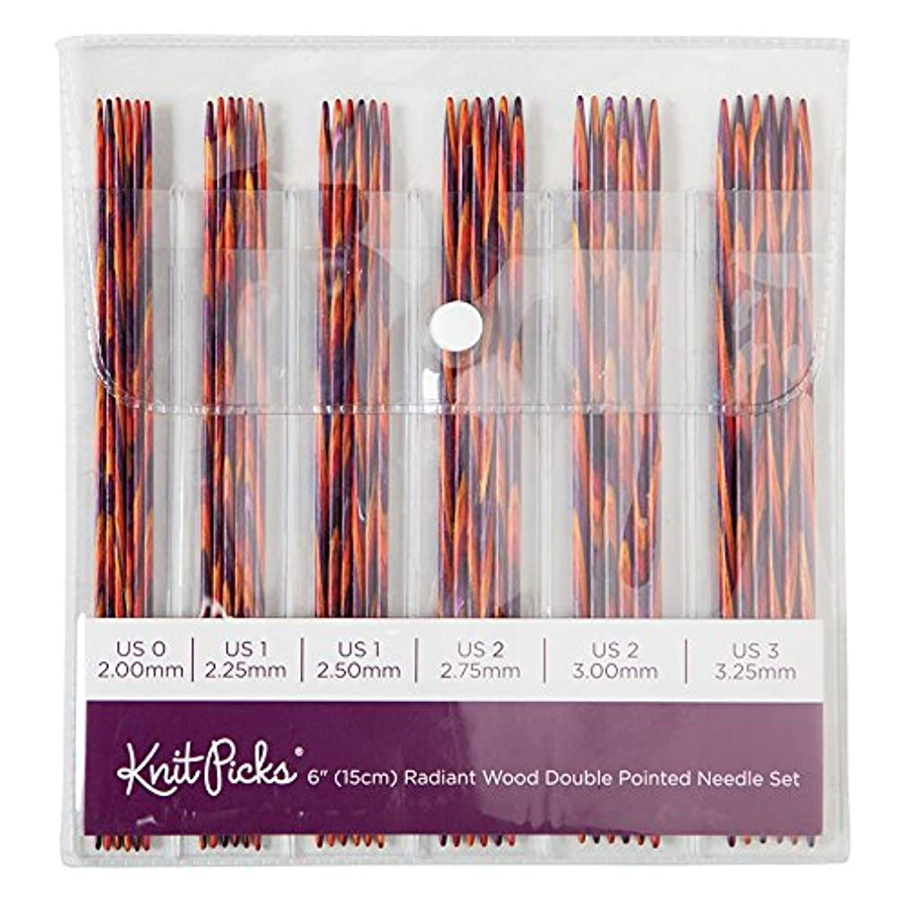 Knit Picks Wood Double Pointed Knitting Needle Set (6