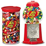 Jelly Belly Mini Jelly Bean Dispenser Machine + Jelly Belly Jelly Beans 3 Pound Tub, 49 Assorted Flavors, Kosher Certified