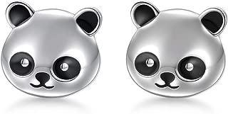 925 Sterling Silver Cute Animal Panda Bear Bird Flamingo Cat Rabbit Stud Earrings for Women Girls Birthday Gift