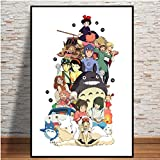 Doyjab Puzzles Familiar 1000 Piezas Puzzles Homenaje a la Pintura de Dibujos Animados móvil de Japón De Madera para Adultos Color Pintura Abstracta Puzzles para Niños Juguete Educativo Regalo 50x75cm