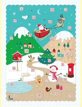 Rachel Ellen Alpine Snow Szene Adventskalender