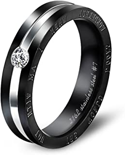 Dreamslink The World Looks Wonderful When I AM with You Fashion Couple Ring Stainless Stell Ring 306