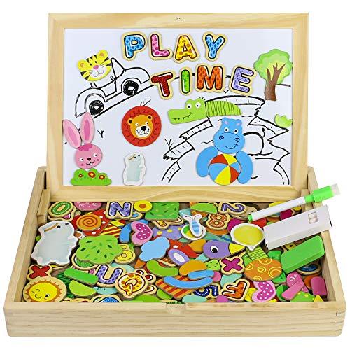 TONZE Pizarra Magnetica Infantil Juguetes Madera-Puzzles Magnético Rompecabezas Infantil Juguetes Educativo Montessori Niños 3 4 5 Años