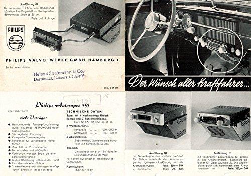 Philips Autosuper 491 (Autoradio-Prospekt)