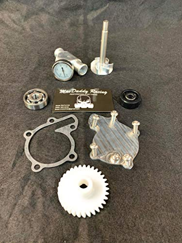 MacDaddy Racing Yamaha Banshee Billet Water Pump Kit and Billet Coolant Temperature Gauge