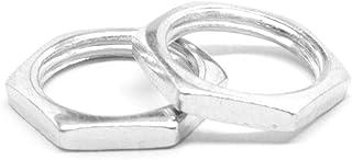 1//8-27 x W9//16 x 1//8 NPSM Thread Hex Panel Nut Low Carbon Steel Zinc Plated Pk 50