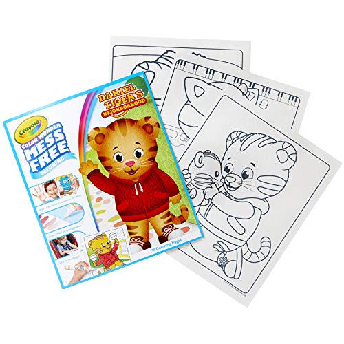 Crayola Color Wonder, Daniel Tiger's Neighborhood, 18 Mess Free Coloring Pages, Gift for Age 3, 4, 5, 6