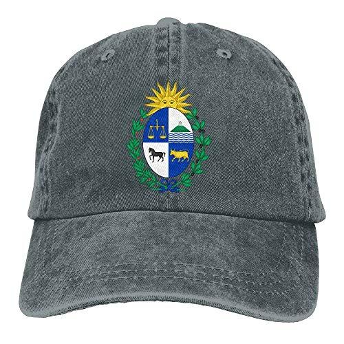 Jhonangel Escudo de Armas de Uruguay Sombrero de Vaquero Adulto Gorra de béisbol Ajustable Atlético Personalizado Sombrero Fresco para Hombres y Mujeres