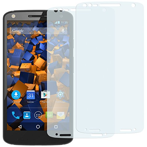 mumbi Schutzfolie kompatibel mit Motorola Moto X Force Folie klar, Bildschirmschutzfolie (2X)