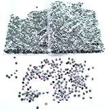 Queenme 2880pcs SS10 AB Hotfix Rhinestones Flatback Crystals for Clothes Shoes Crafts Hot Fix Round Glass Gems Stones Flat Back Iron on Rhinestones for Clothing 10SS (AB, 2880pcs SS10)