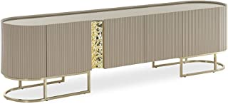 Homes r us Luxury Collection CYPRUS Entertainment unit - Gold/Light Brown - 243 x 50 x 65 cm