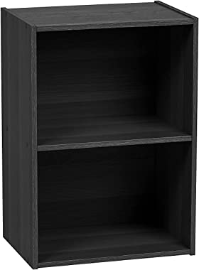 UniShop 2-Tier Storage Rack for Office/Home Décor (Standard Brown, 11.42 x 16.34 x 23.43 inches)
