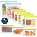 10 Pack Dishwasher Safe Reusable Food Storage Bags (5...