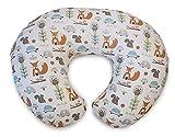 Boppy Stillkissen für Säuglinge 0+ Monate, Ergonomische Form mit Miracle Middle Insert - Stillkissen und Babynest fürs Stillen, Sitzkissen Baby, Modern Woodland
