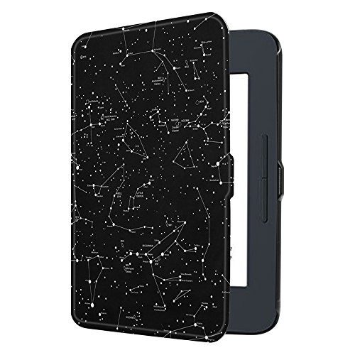 Fintie SlimShell Case for Nook GlowLight 3, Ultra Thin and Lightweight PU Leather Protective Cover for Barnes and Noble Nook GlowLight 3 eReader 2017 Release Model BNRV520, Constellation