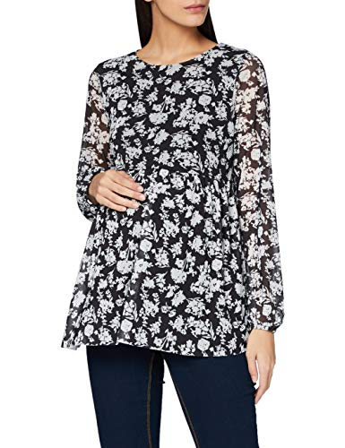 Mamalicious MLMILLA L/S Jersey Top Camicia da Donna, Nero