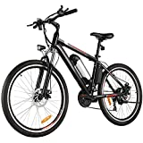 Aceshin 26 inch Electric Bike Adult Electric Mountain Bike, Electric Bicycle 20Mph with Removable 36V 8AH Lithium-Ion Battery 250W Motor 21 Speed Gear (Black)