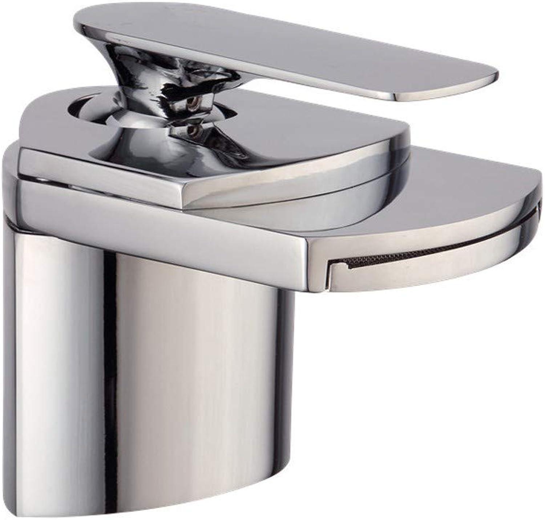 Rubinetto FANGQIAO SHOP Wasserhahn, Alle Kupfer Heie Und Kalte Badezimmer Waschbecken Mischer Wasserfall Entenschnabel Einlochmontage