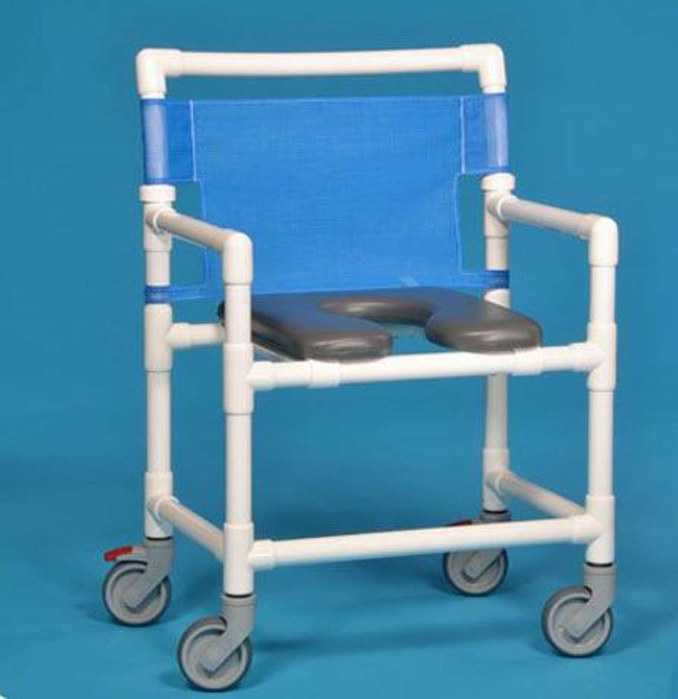 Extra Rolling Front Shower Commode