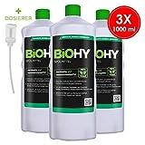 BIOHY Profi Spülmittel 3 x 1 Liter Flaschen + Dosierer | PHOSPHATFREI | Frei von Chemikalien &...