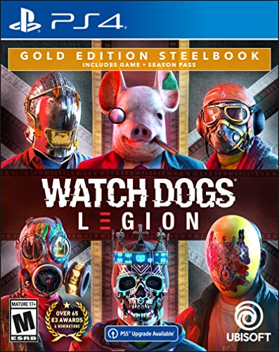 Watch Dogs: Legion PlayStation 4 Gold Steelbook Edition with free upgrade to the digital PS5 version