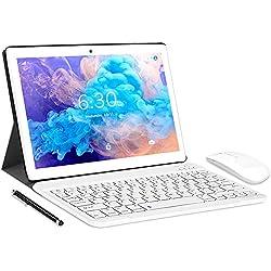 LNMBBS N10 Tablet con 10.1´´ FHD, Octa-Core, 4G LTE + WIFI Tablet Android 10.0, 4GB RAM + 64GB ROM, 128GB Espandibili, Dual SIM, GPS (Oro)