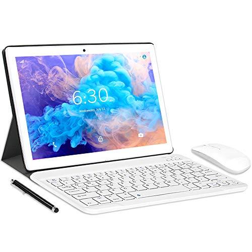 LNMBBS N10 Tablet con 10.1  FHD, Octa-Core, 4G LTE + WIFI Tablet Android 10.0, 4GB RAM + 64GB ROM, 128GB Espandibili, Dual SIM, GPS (Oro)