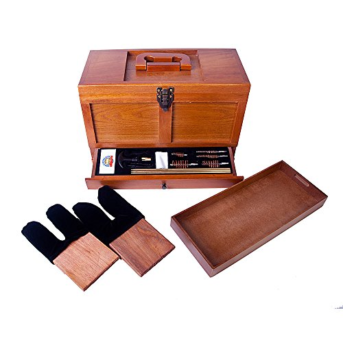 Gunmaster Wood Toolbox 17 Piece Universal Gun Cleaning Kit