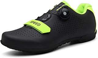 OneChange Road Cycling Shoes for Mens Womens Breathable Anti-Skid Bike Shoes without Cleats for Mountain Riding Bicycle (Color : Yellow, Size : 6 UK)
